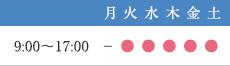 診療時間:9:00~17:00 休診日:月曜